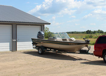 ... MN Fishing Boat In Front Of A Storage Unit At Stracku0027s Self Storage In  Randall, MN